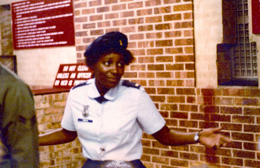 Lt Bonnie Tamplin, D Flt Officer Bentwaters Armory 1980